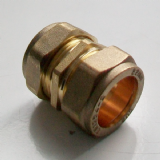 22mm Brass Compression Slip Coupling - 24902200